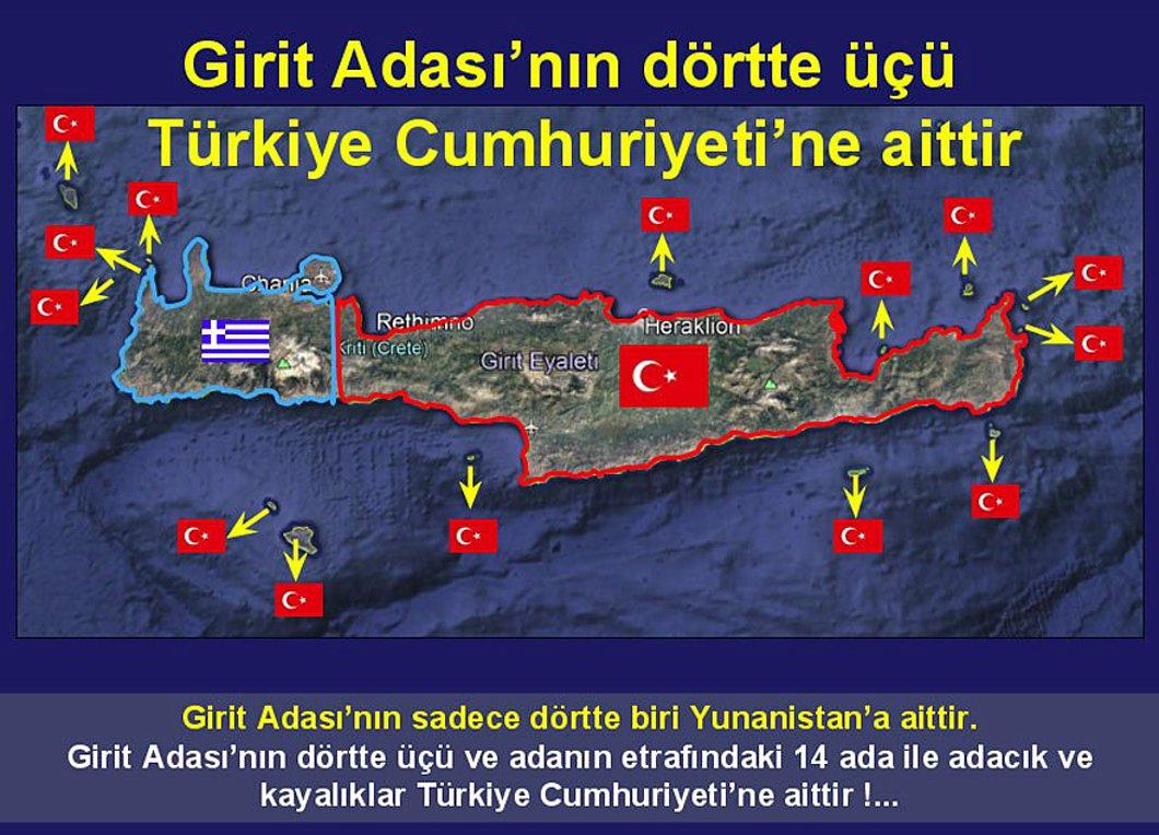 Τουρκία: «Τα ¾ της Κρήτης είναι τουρκικά»