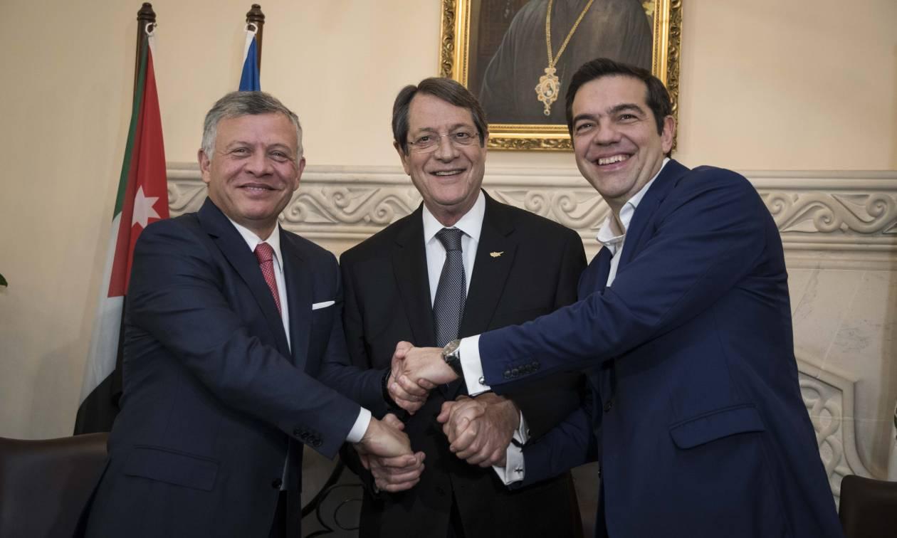 Τριμερής Συνάντησης Ελλάδας, Κύπρου & Ιορδανίας. Στο επίκεντρο Ανατολική Μεσόγειος, Προσφυγικό & Κυπριακό