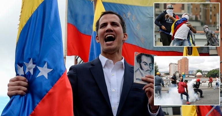 """Μυρίζει """"Μπαρούτι"""" η Βενεζουέλα: Κάλεσμα Χ. Γκουαϊδό σε γενική απεργία, συνεχίζει τις απειλές ο Ν. Μαδούρο."""