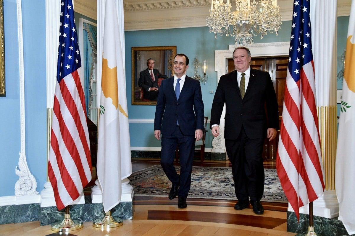 Χριστοδουλίδης – Πομπέο συζήτησαν περαιτέρω αναβάθμιση των σχέσεων Κύπρου & ΗΠΑ
