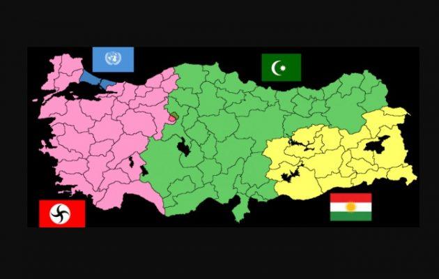 Η Τουρκία είναι πολύ μεγάλη για να παραμείνει «μία» – Μόνο «στα τρία» θα έχουμε ειρήνη
