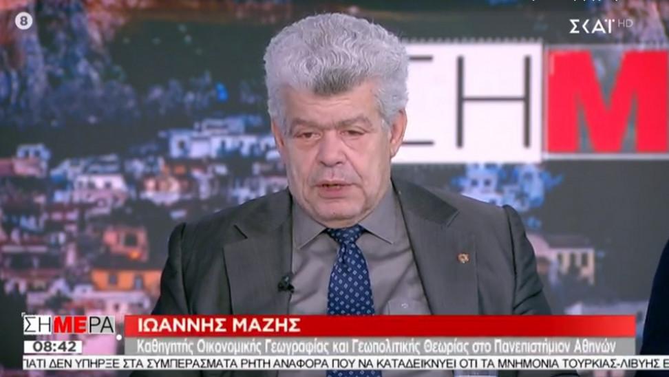 """Ιωάννης Μάζης: """"Είμαστε κοντά σε ένα θερμό επεισόδιο με την Τουρκία.."""" (Vid)"""