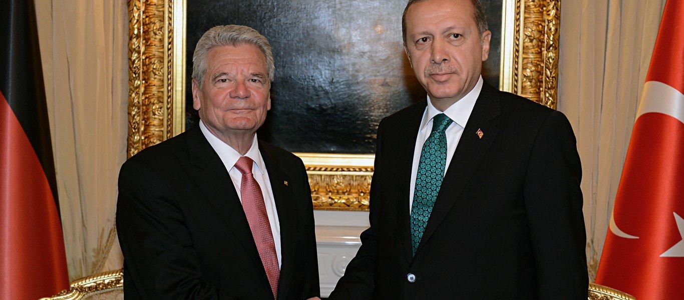 """Πρόεδρος Γερμανίας Γ. Γκάουκ: """"Γιατί χρειαζόμαστε τη βοήθεια του Ερντογάν.."""""""