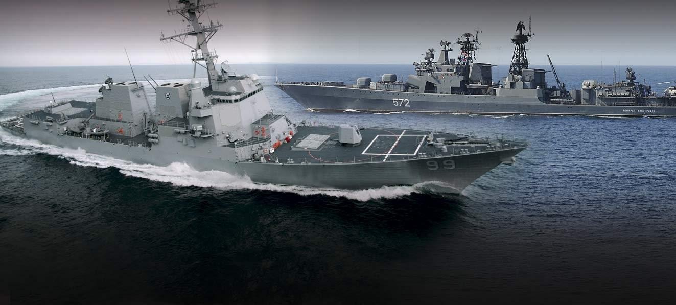 """Παρ' ολίγο """"σύγκρουση"""" ρωσικού πολεμικού πλοίου με αμερικανικό στην Αραβική Θάλασσα (Vid)"""