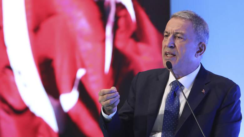 """Τούρκος Υπουργός Άμυνας Χ. Ακάρ: """"Η Ελλάδα διατηρεί παράνομα στρατό σε 16 νησιά, παραβιάζοντας το Διεθνές Δίκαιο.."""""""