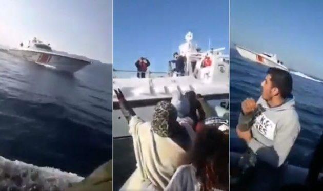 Αδιανόητο περιστατικό στο Αιγαίο: Η τουρκική ακτοφυλακή εμβολίζει προσφυγική λέμβο (Vid)