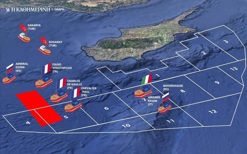 """Οι Γάλλοι στέλνουν το αεροπλανοφόρο """"Σαρλ Ντε Γκωλ"""" νοτίως της Κύπρου & """"απαντούν"""" στην Τουρκία"""
