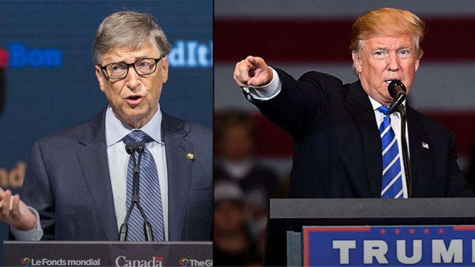 Σε μετωπική σύγκρουση ο Ντ. Τραμπ με τον Μπ. Γκέιτς: Κόβει την επιδότηση από τον Παγκόσμιο Οργανισμό Υγείας..;