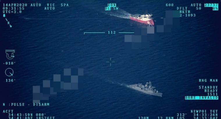 To ερευνητικό σκάφος «Barbaros» εισήλθε στην  ΑΟΖ της Κύπρου συνοδεία τουρκικής φρεγάτας