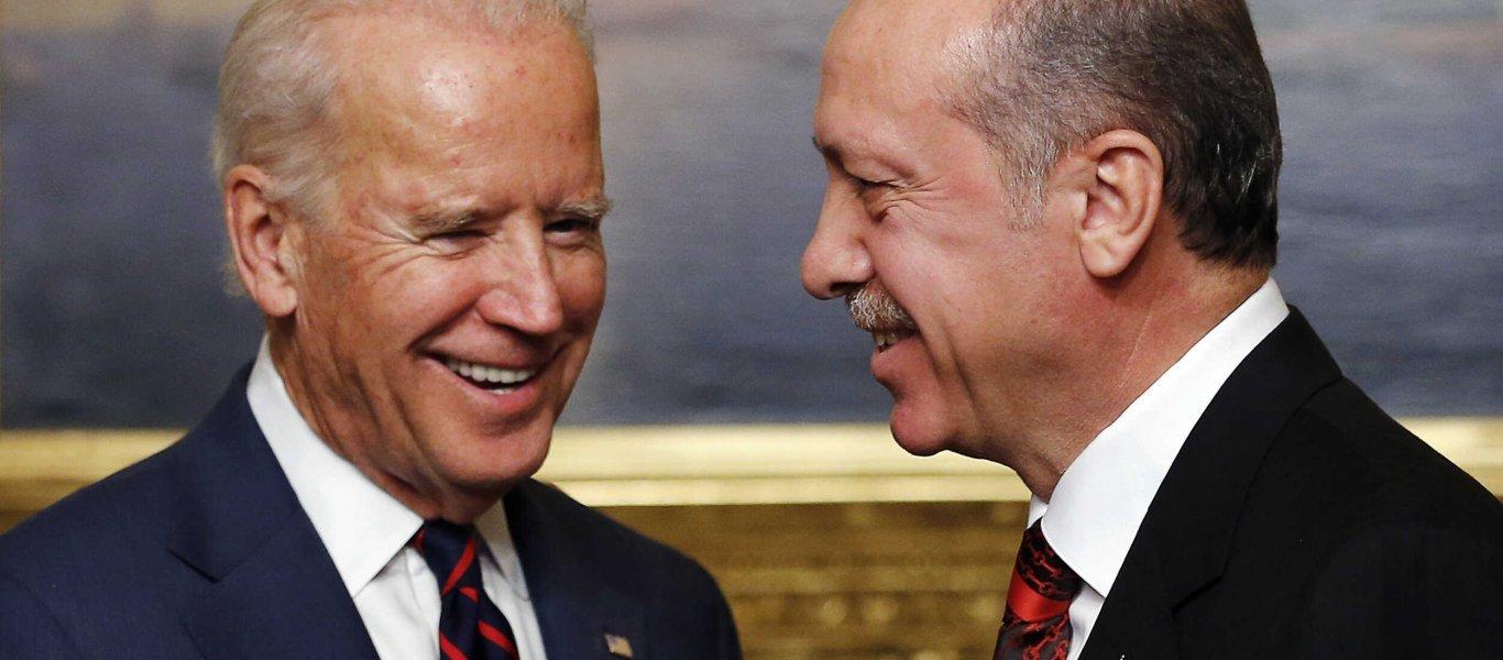 """Ο νεοεκλεγείς πρόεδρος των ΗΠΑ Μπάιντεν """"αναβαθμίζει"""" τους συμμάχους της Άγκυρας"""