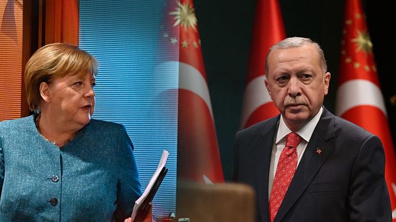 """Μέρκελ σε Ερντογάν: """"Στη βάση του Διεθνούς Δικαίου η επίλυση των διαφιλονικούμενων θεμάτων στη Μεσόγειο"""""""